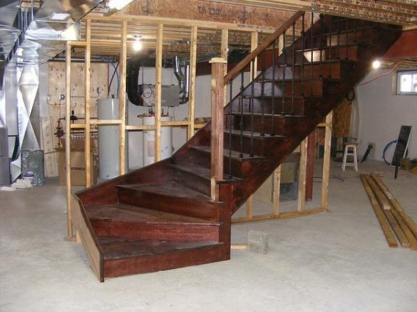 Basement Staircase Installation Costs Updated Prices In 2020 | Floor Opening For Basement Stairs | L Shaped | Foyer | Both Side | Interior | 8 Foot Ceiling