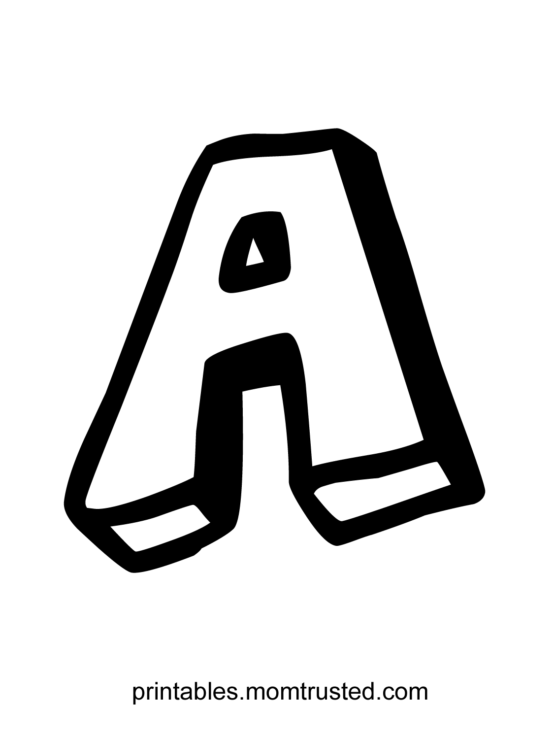 The Letter A Free Coloring Page