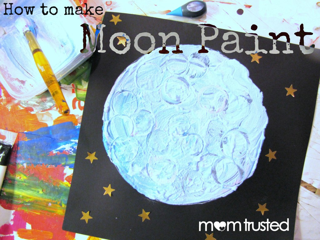 Once In A Blue Or Purple Moon How To Make Moon Paint