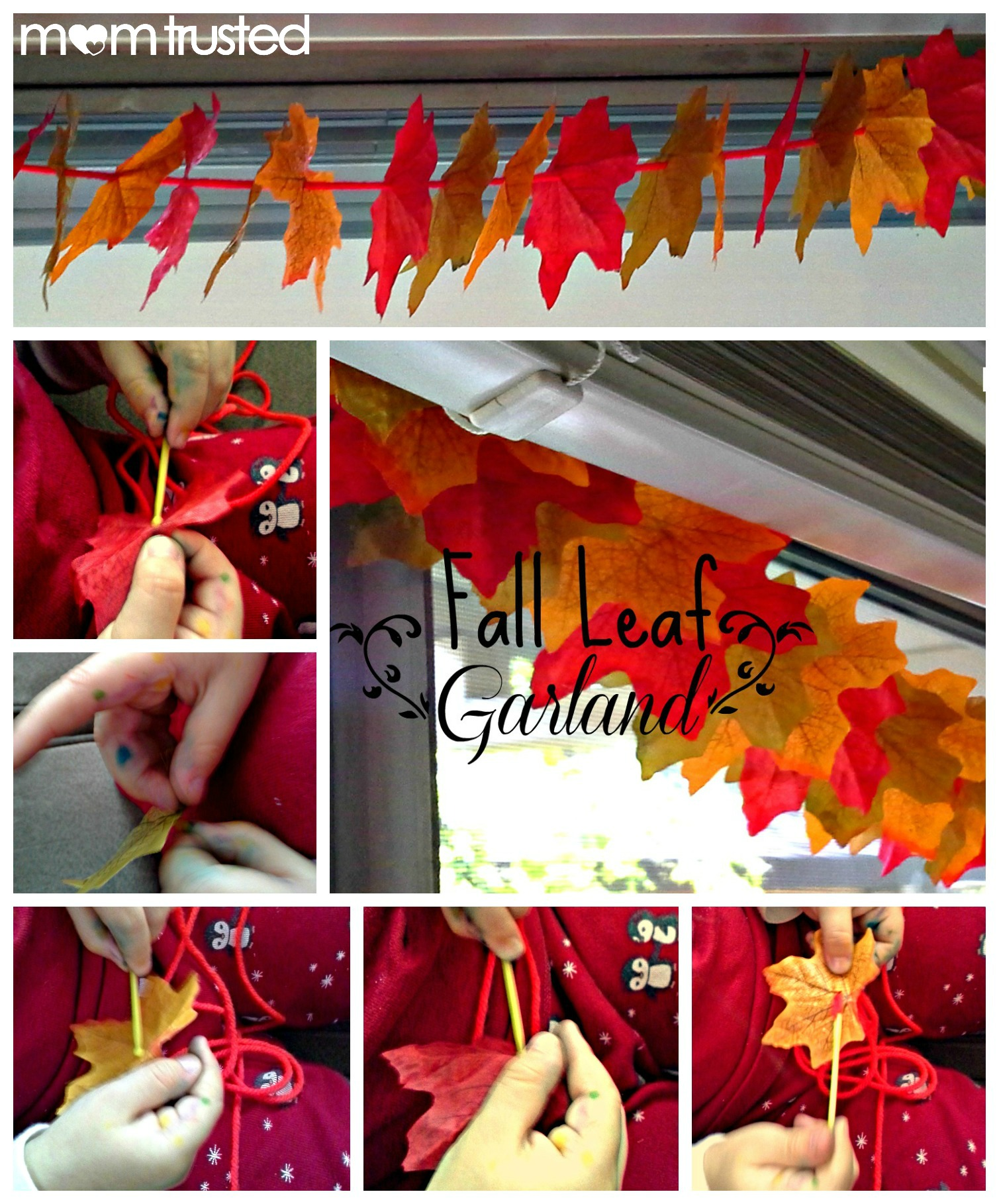 Fall Decorations How To Make An Autumn Leaf Garland