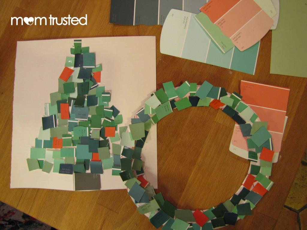 Paint Sample Wreath And Tree
