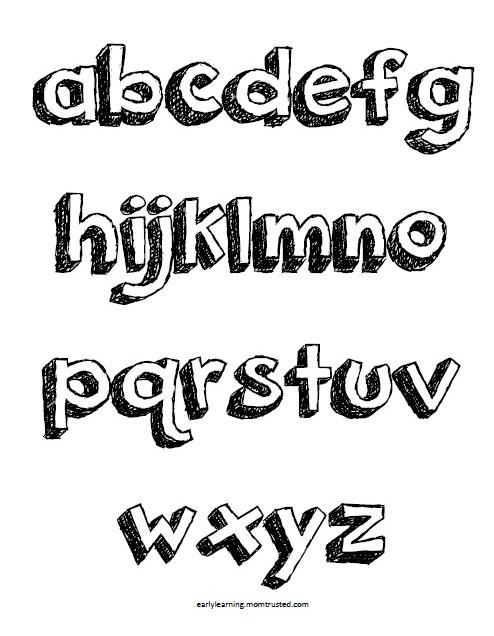 Pop Up Letters & Alphabet Coloring Pages