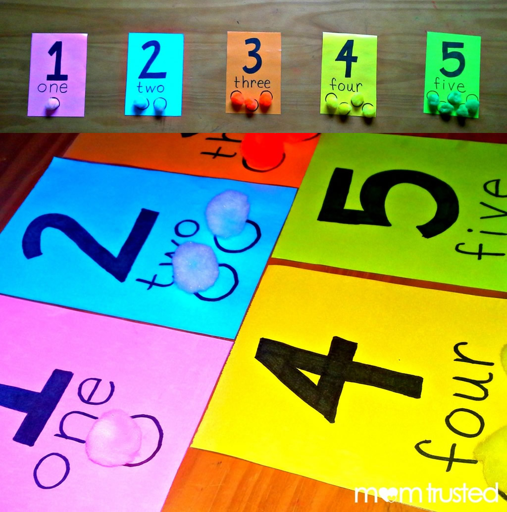 Preschool Counting Activity With Pom Pomspreschool Activities And Printables