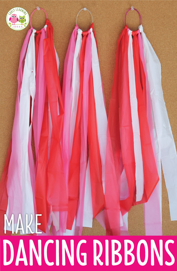 An Easy Craft For Kids Make Dancing Ribbons Early