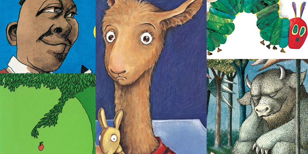 Clips of 5 children's book covers
