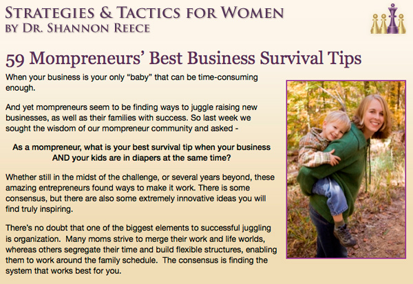 Strategies and Tactics for Women