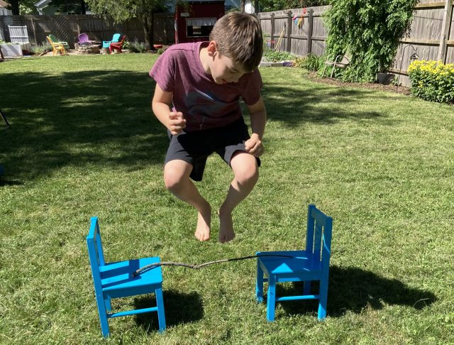 outside activities for kids obstacle course math