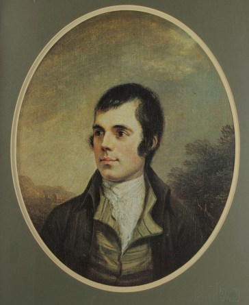 Alexander Nasmyth's portrait of Robert Burns.
