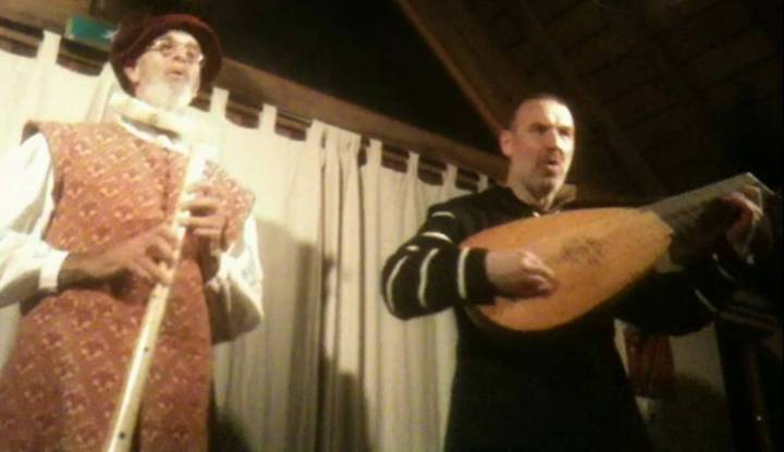Ian Pittaway on lute and voice, Andy Casserley on shawm on voice, together as The Night Watch, singing the source of some of Shakespeare's best lines.