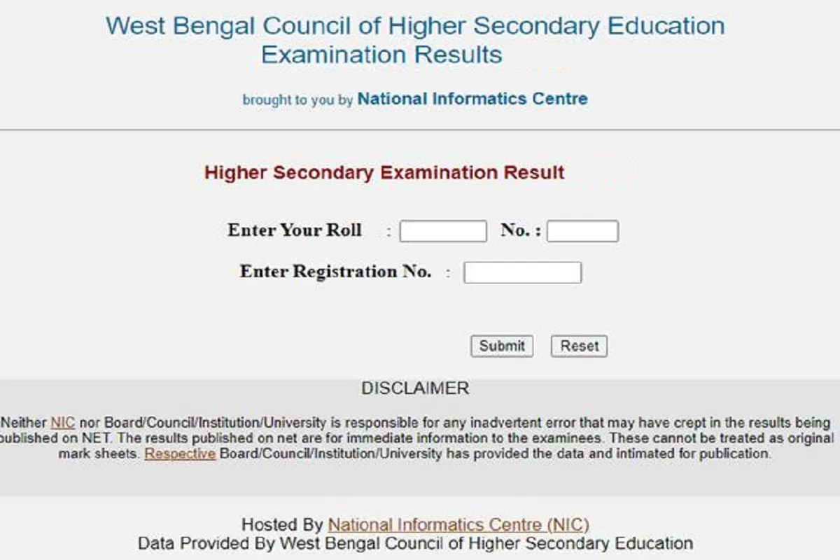 WB HS, West Bengal 12th, WBCHSE Uchha Madhyamik results at wbresults.nic.in