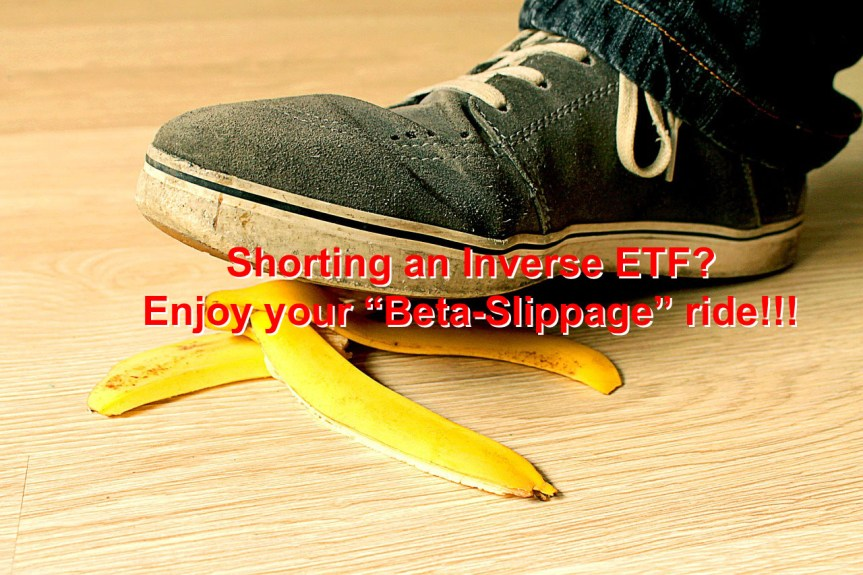 "Shorting an inverse ETF? A bad idea!  (Or: Why ""Beta-Slippage"" isn't alpha)"