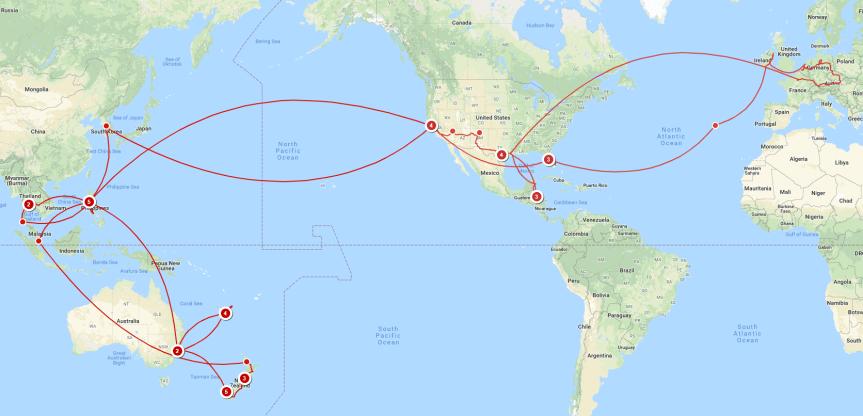 The 2018 ERN Family World Tour