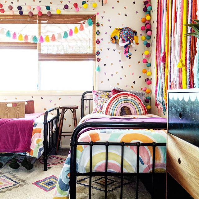 The Hectic Eclectic's Boho Maximalism kids' bedroom