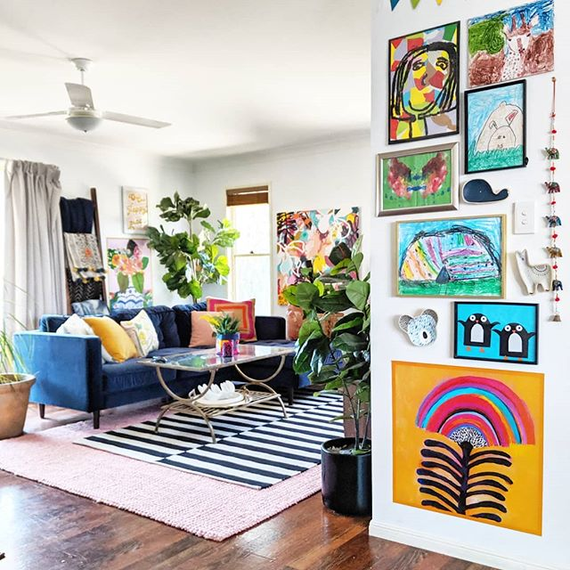 The Hectic Eclectic's Boho Maximalism in the lounge