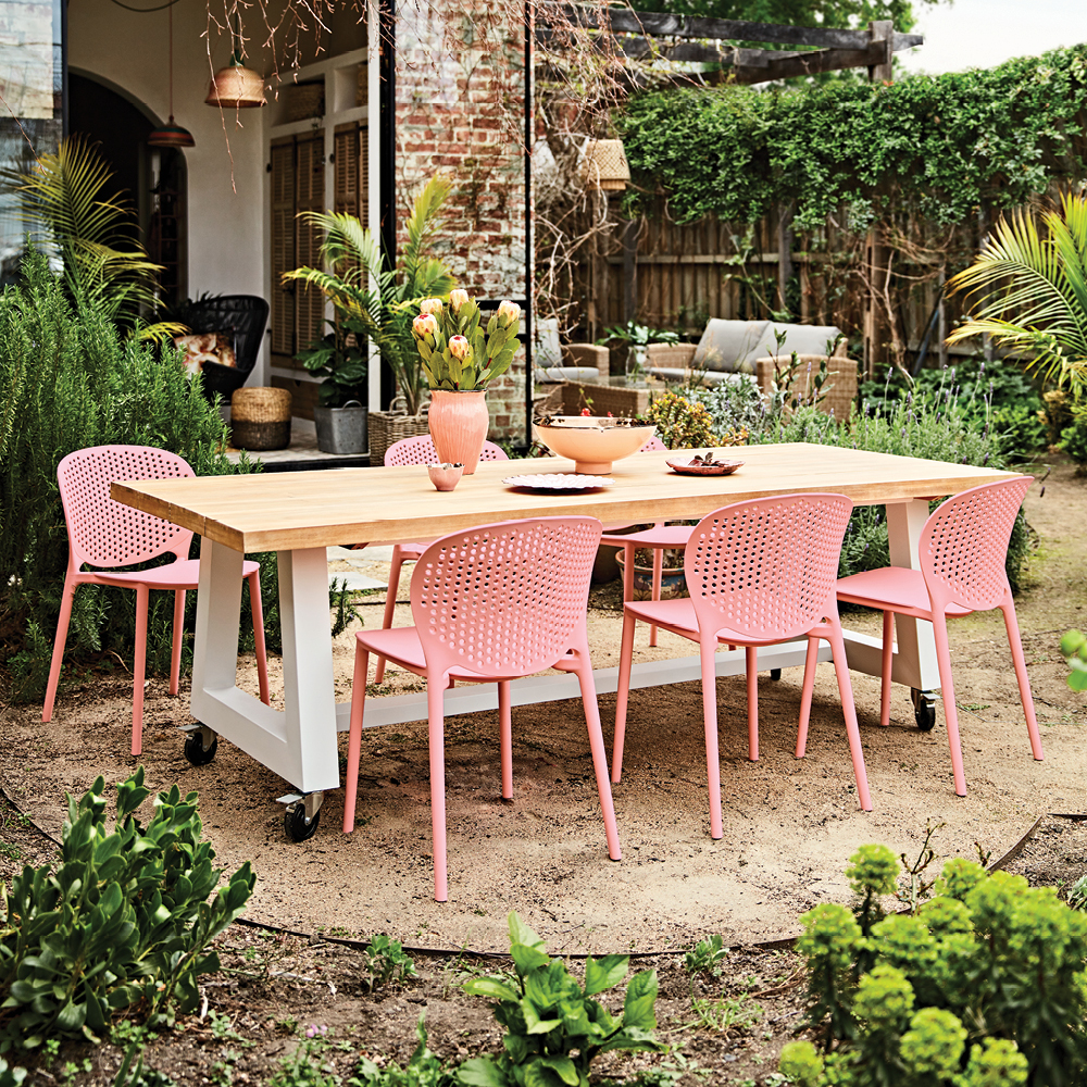 Backyard Barbie Party Guide with outdoor furniture