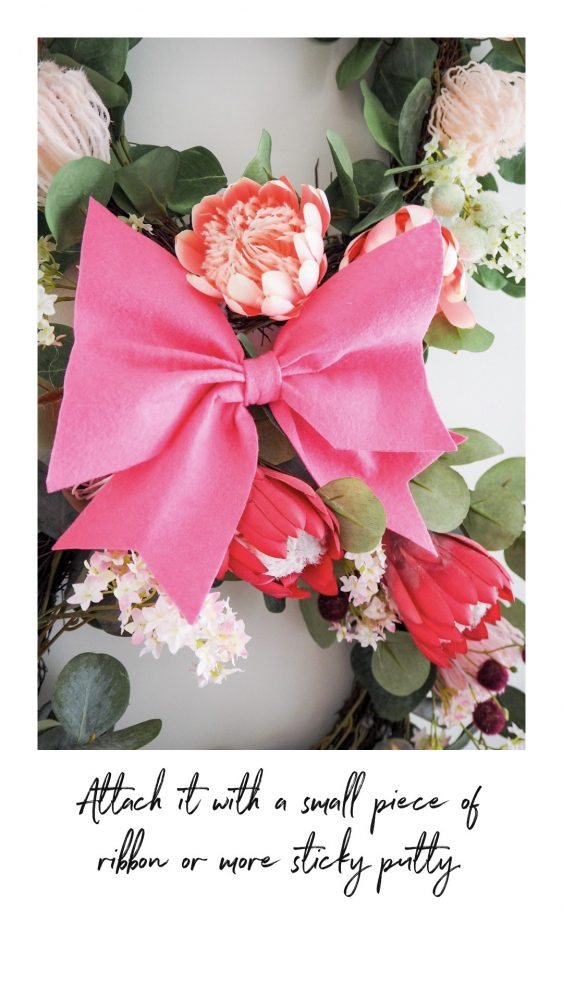 Decorate Your Easter Wreaths the bow