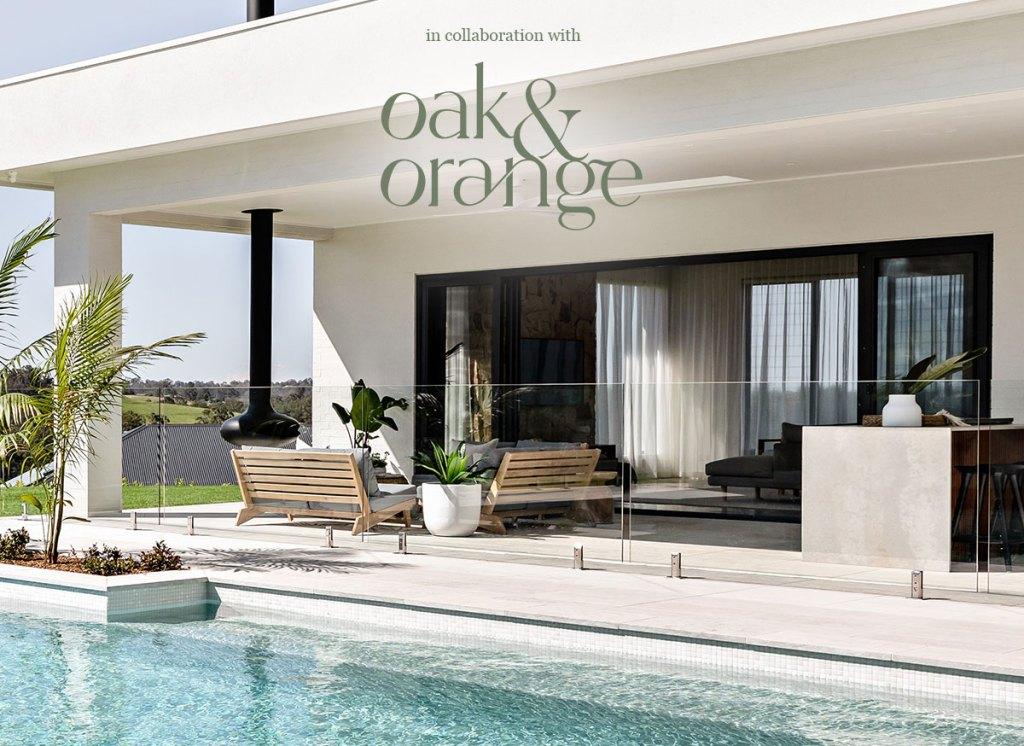 Oak & Orange Poolside Paradise hero