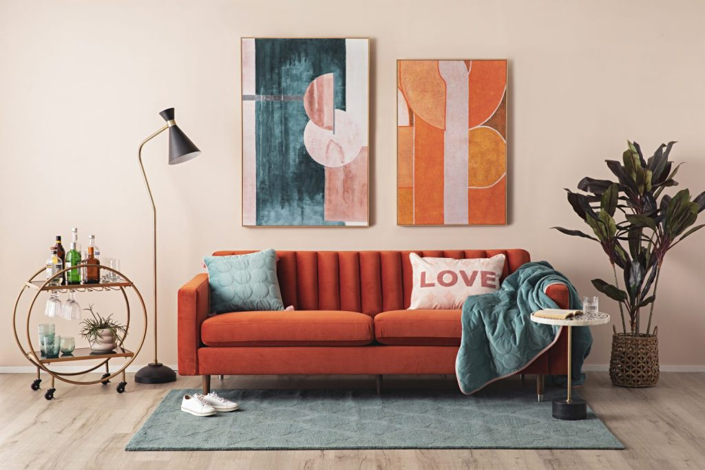 Ready for a Retro Romance? with the stitch sofa
