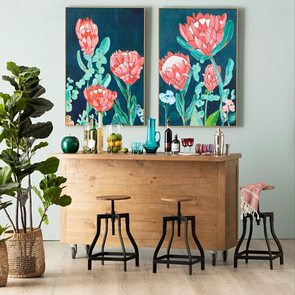 Update Your Kitchen Without Renovating with art and plants