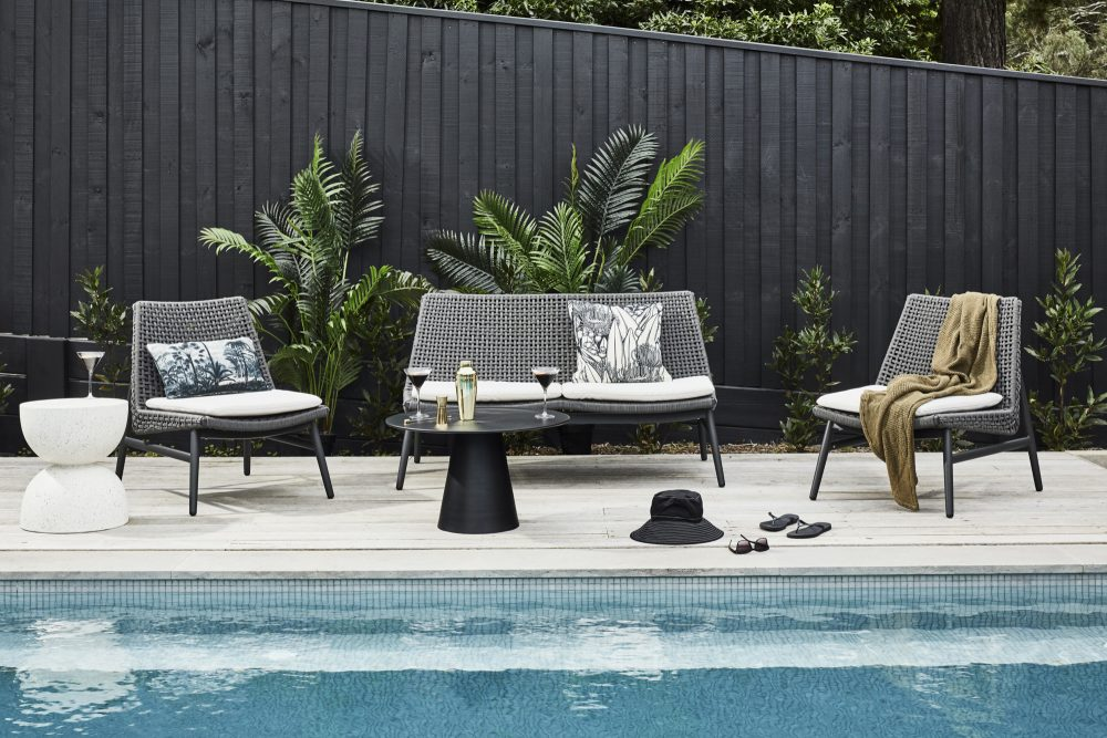 Spring Outdoor Furniture Trends with the poolside Harley sofa set