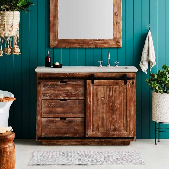 6 Savvy Storage Solutions with a vanity