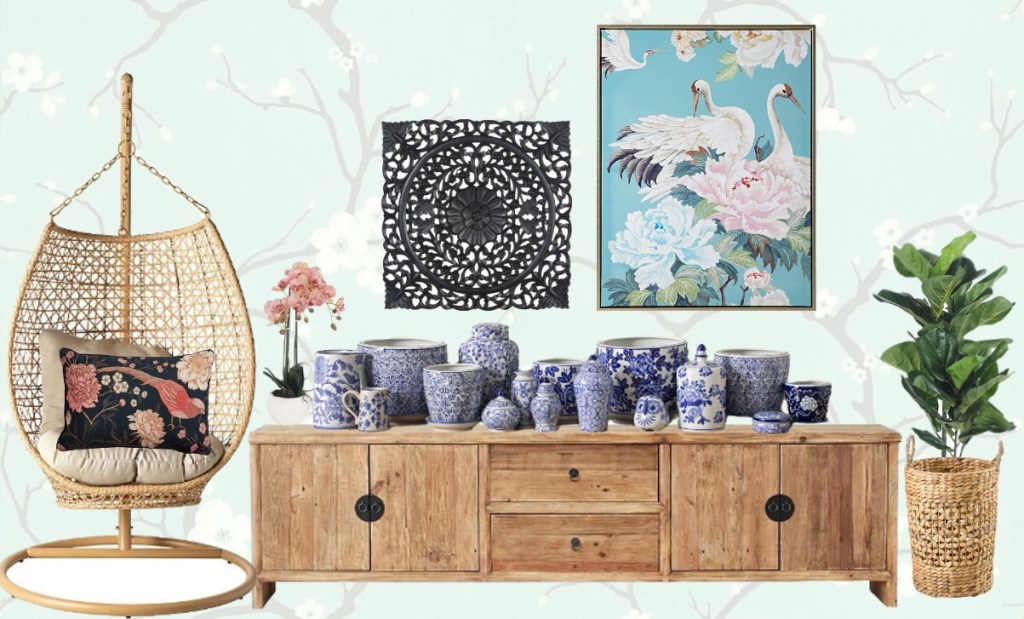 The Timeless Chic of Chinoiserie mood board