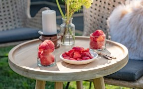 Summer Berry & Rose Sorbet by Chef Alison Lambert