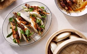 Honey & Soy Pork Skewer Bao Buns by Chef Laura Sharrad