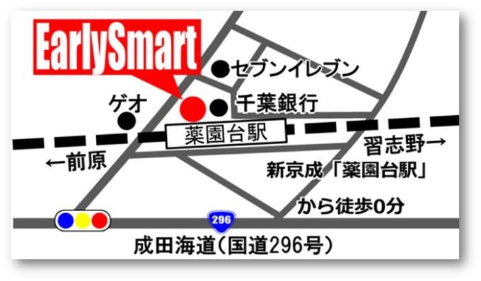 船橋のiPhone修理店EarlySmart薬園台店アクセスマップ