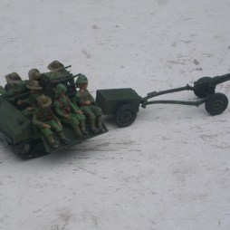 Dutch KNIL Vickers Carden Loyd Utility Tractor with 47mm ATG,