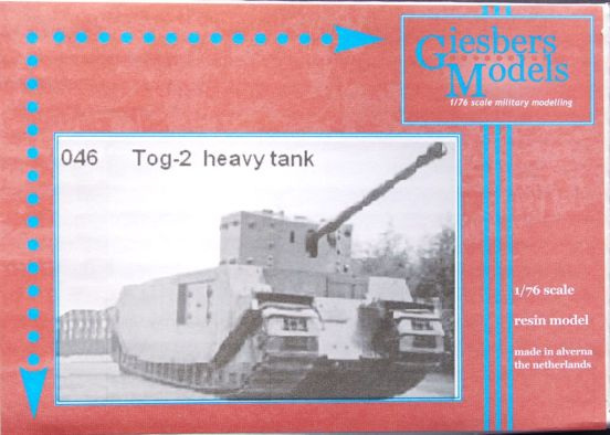 TOG 2 Heavy Tank. This is a fine Giesbers model.