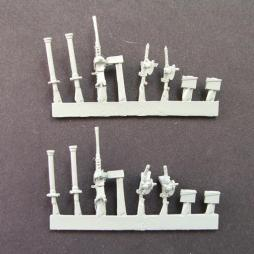 Vehicle weapons pack - 2 x .50 cal HMG on mount, 4 x .30 cal mg'