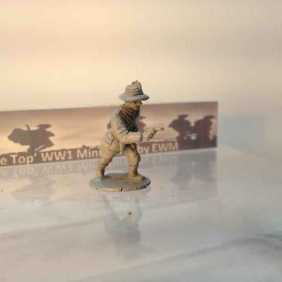 T.L. Australian light Horse officer wearing bush hat with feathe