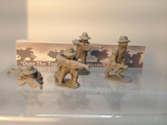 T.L. 4 x different Australian Light horse cavalryman dismounted
