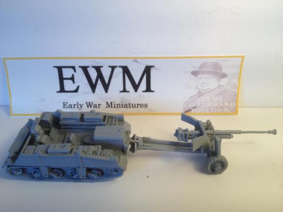 Loyd carrier towing No2 Mk 2 for 6 pdr A/t gun + driver &stowage