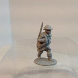3 x Infantryman -  Advancing rifle Slung, webbing and helmet.
