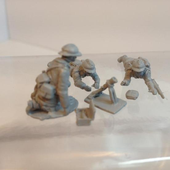 Belgian Infantry Mortar Section 3 x 50mm Mortars with Crews