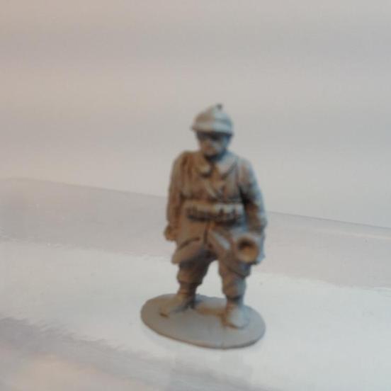 Belgian Infantry Platoon Bugular with rifle shouldered.
