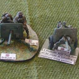 2 Pounder Anti-Tank Gun - can be made as travelling or
