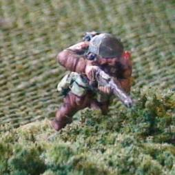 1 x Infantryman standing and firing Rifle