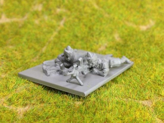 2 x Indian Infantry firing bren gun