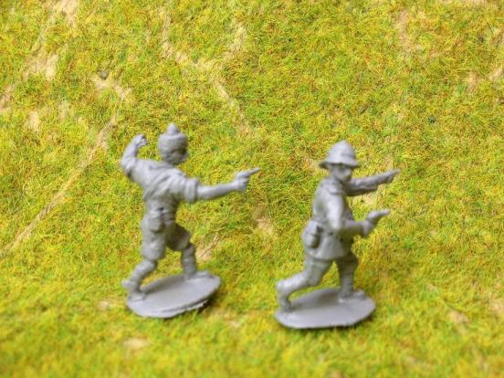 Indian Infantry officers x2
