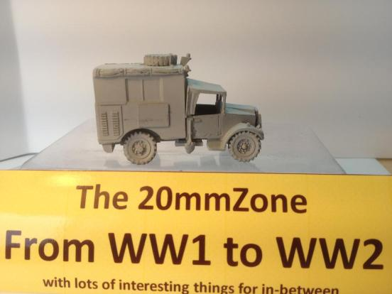 Morris C4 Mark II wireless (House type) truck with Driver