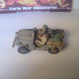 SAS/LRDG  jeep loaded with stores, twin + single Vickers K's