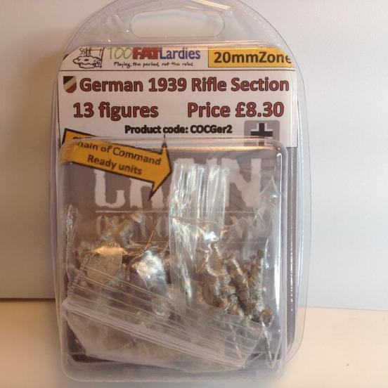 German 1939 Rifle Section - 13 figures