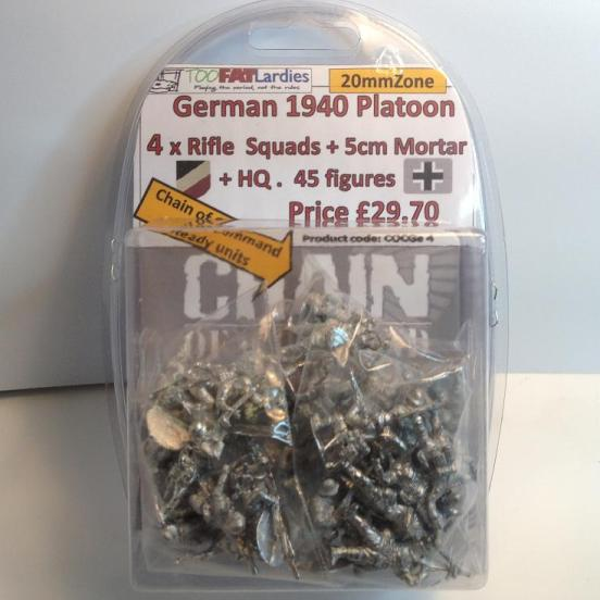 German 1940 Platoon 4xRifle squads + 50mm mortar & HQ