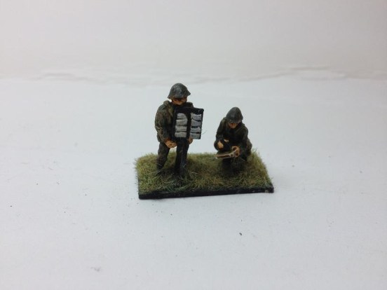 2 Army Signallers operating a semifor board
