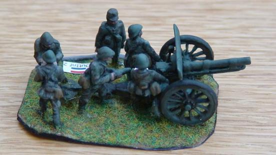 75mm NM10 Krupp Siderius field gun and 6 crew men