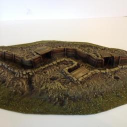 British Communication trench with Latrines, sheltered areas