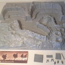 British trench with 2 firing bays + trench mortar position